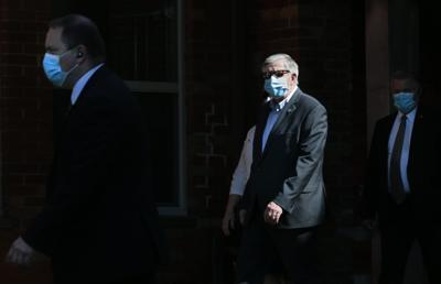 Gov. Parson wearing a mask