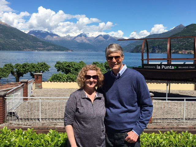 Barb and Mark Kroenig of Oakville at Lake Como, Bellagio, Italy