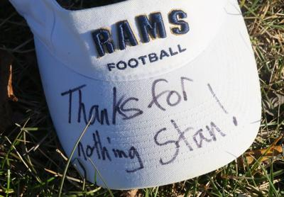 Rams jerseys are left at traning center after team announce they're leaving