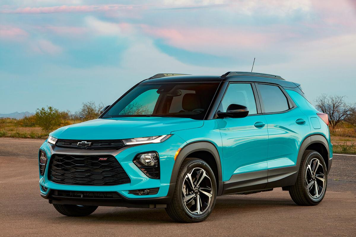 The all-new 2021 Chevrolet Trailblazer slots between Equinox and Trax in Chevy's crossover SUV lineup.