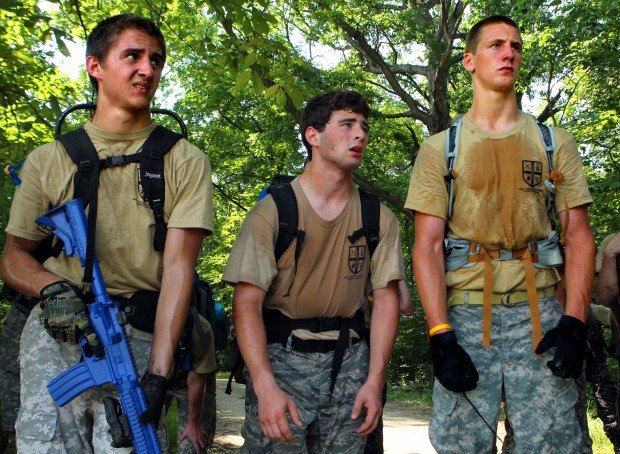Ruck sack training for future cadets