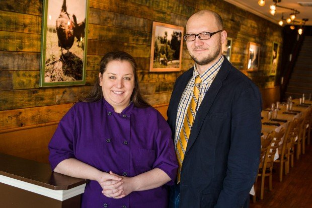 Cassy Vires and Josh Renbarger at Home Wine Kitchen