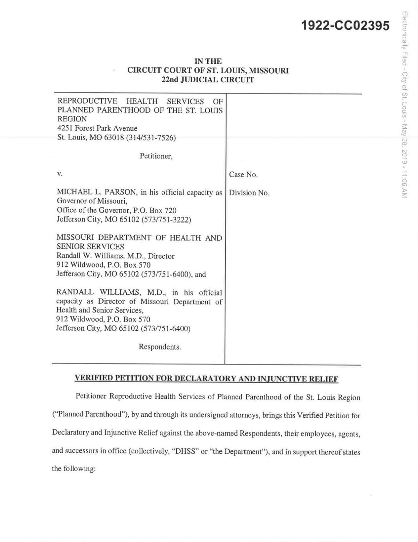 Planned Parenthood lawsuit