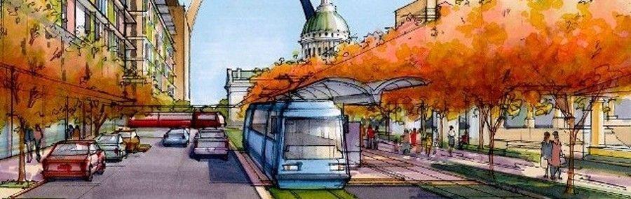 St. Louis streetcar rendering