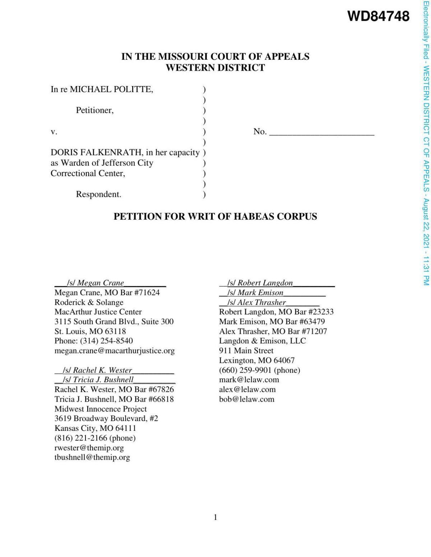Politte petition