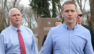 Vice President and Missouri governor visit vandalized cemetery