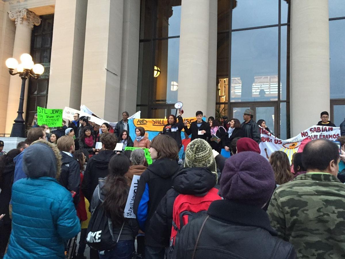 Activists rally at Missouri History Museum