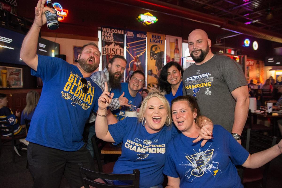 Blues Fans at Hotshots Fenton during Stanley Cup Final Game 5