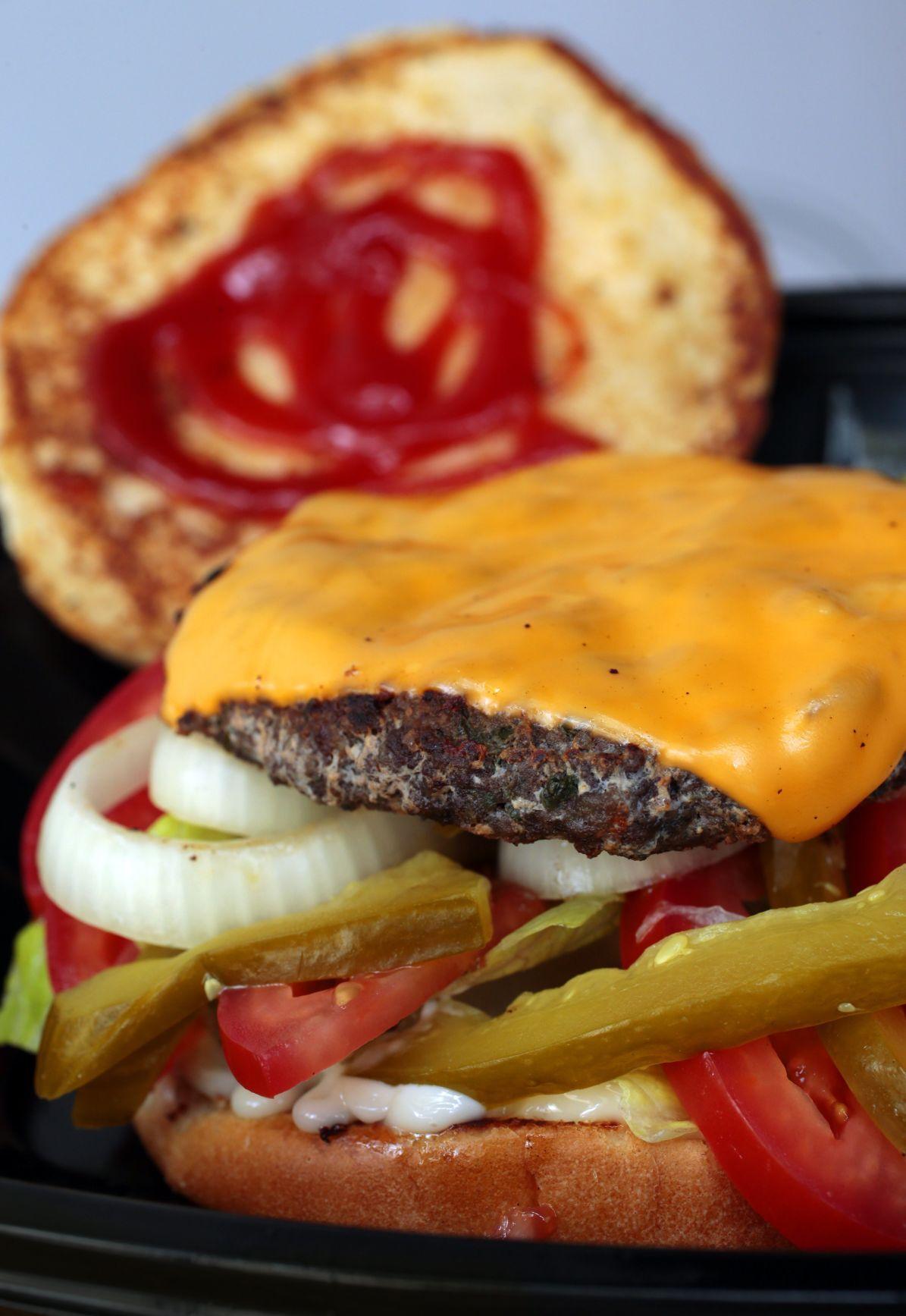 The Kefta burger from American Falafel in the Loop