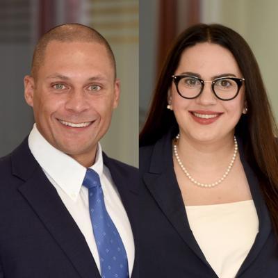 Tony Westbrooks, left, and Nina L. Windsor
