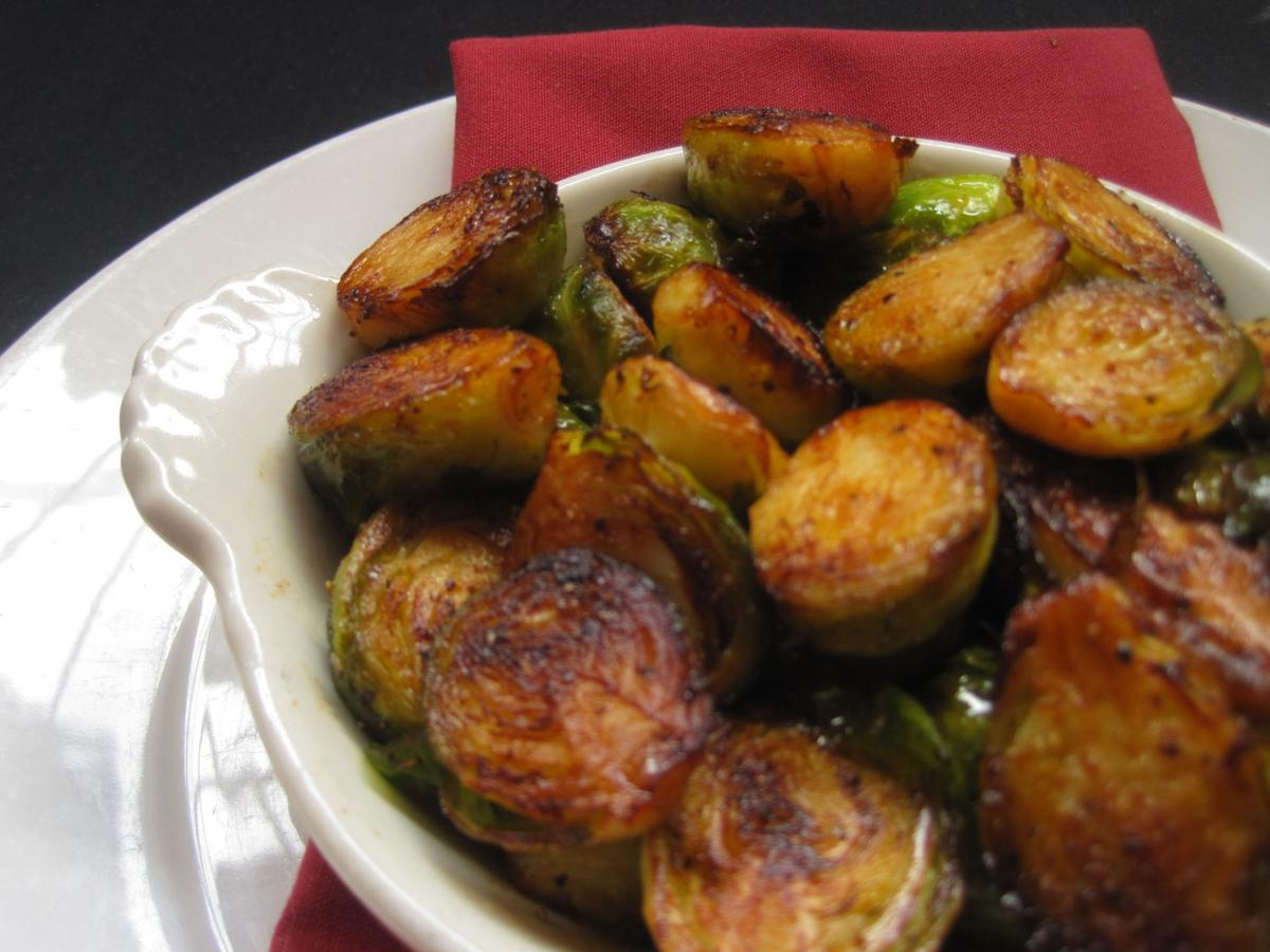 Caramelized Brussels sprouts at Eleven Eleven are simple, popular side dish