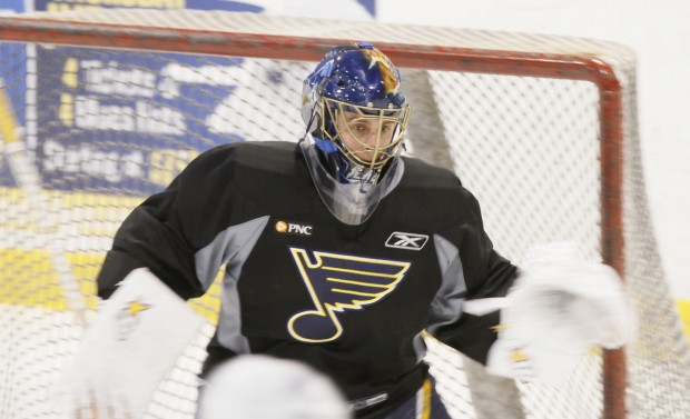 St. Louis Blues practice session