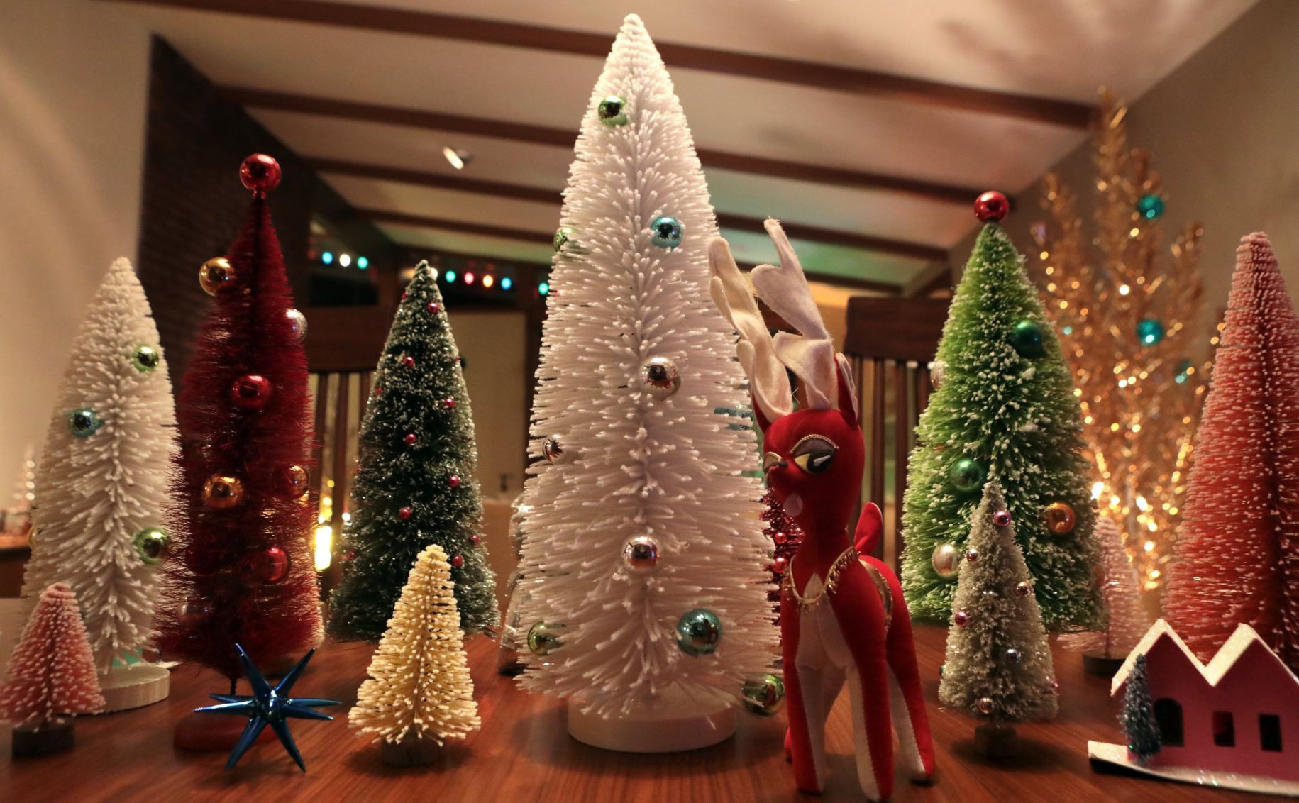 Vintage aluminum Christmas trees make the holidays bright in ...