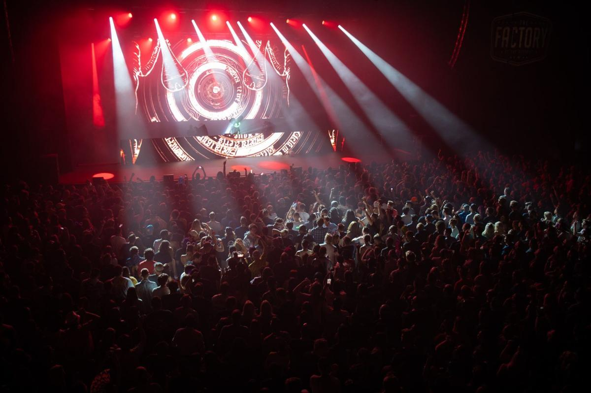 Deadmau5 performs at the Factory's grand opening