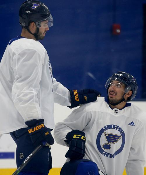 Blues workouts continue before sequestered season
