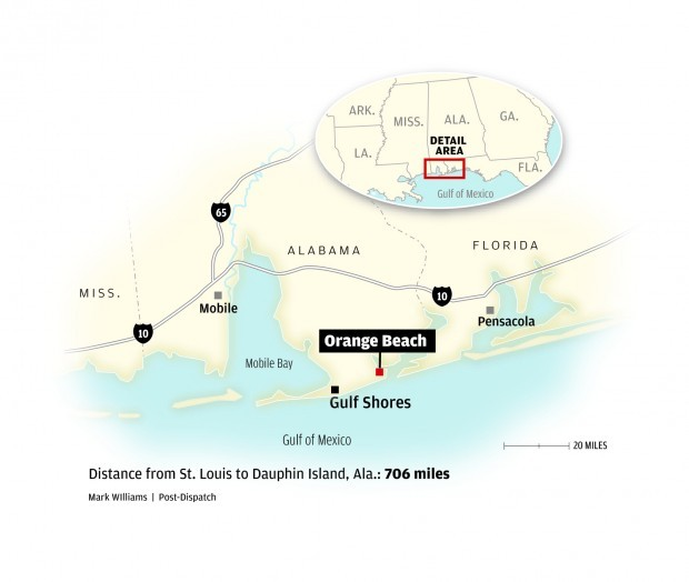 Florida Gulf Beaches Map.Fall In Love With Alabama S Gulf Coast Travel Stltoday Com