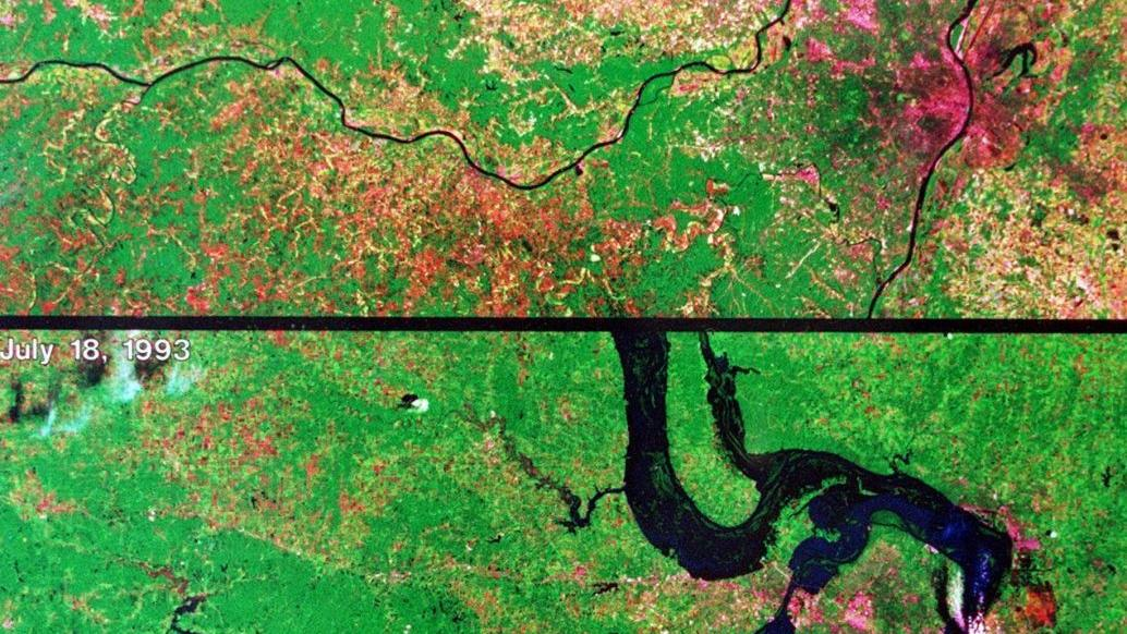 25 years ago: A levee breach moves the convergence of the