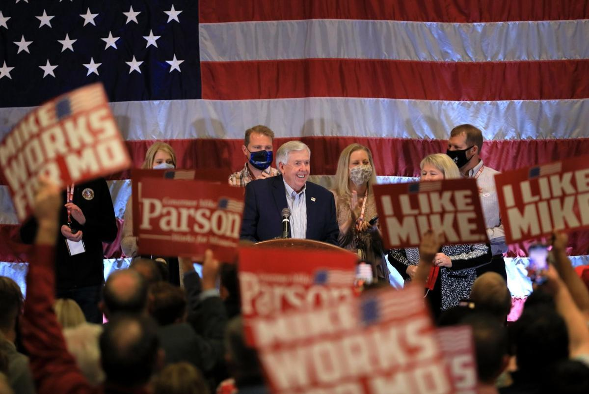 Missouri Gov. Mike Parson 2020 election night