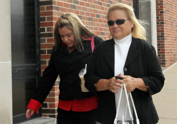 Mary Wild arrives at Jefferson County Courthouse