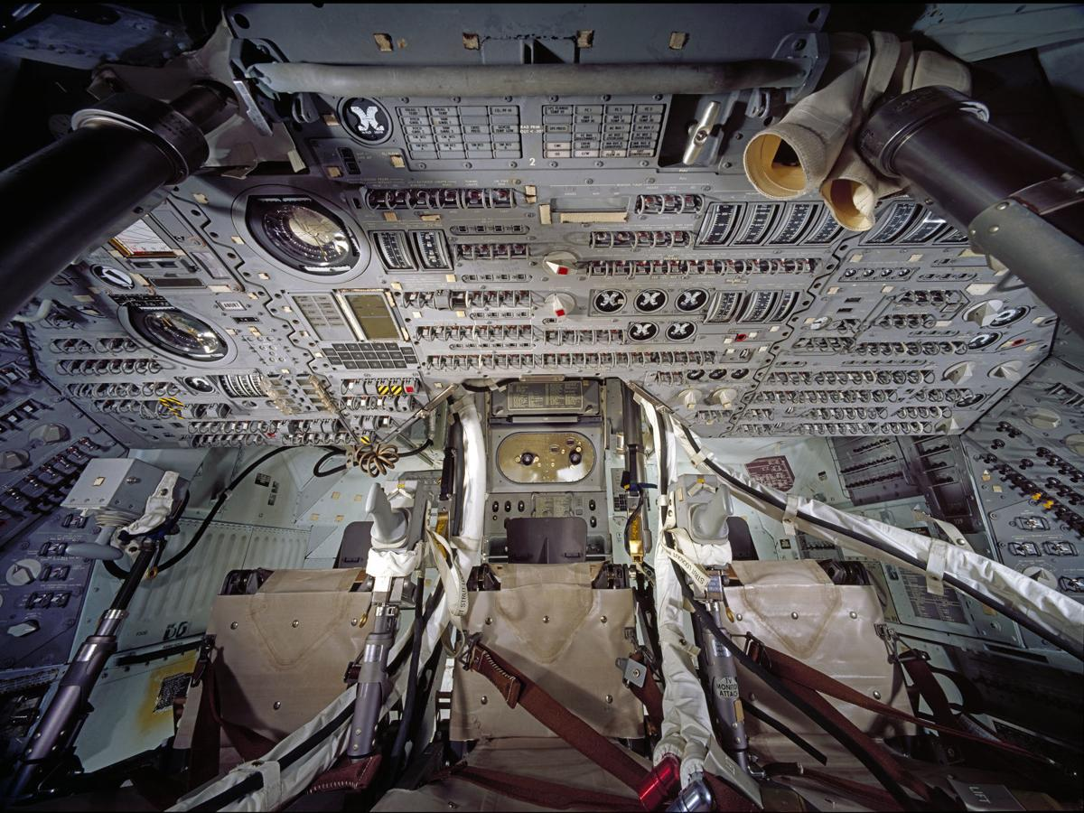 """Interior of Apollo 11 Command Module """"Columbia"""""""