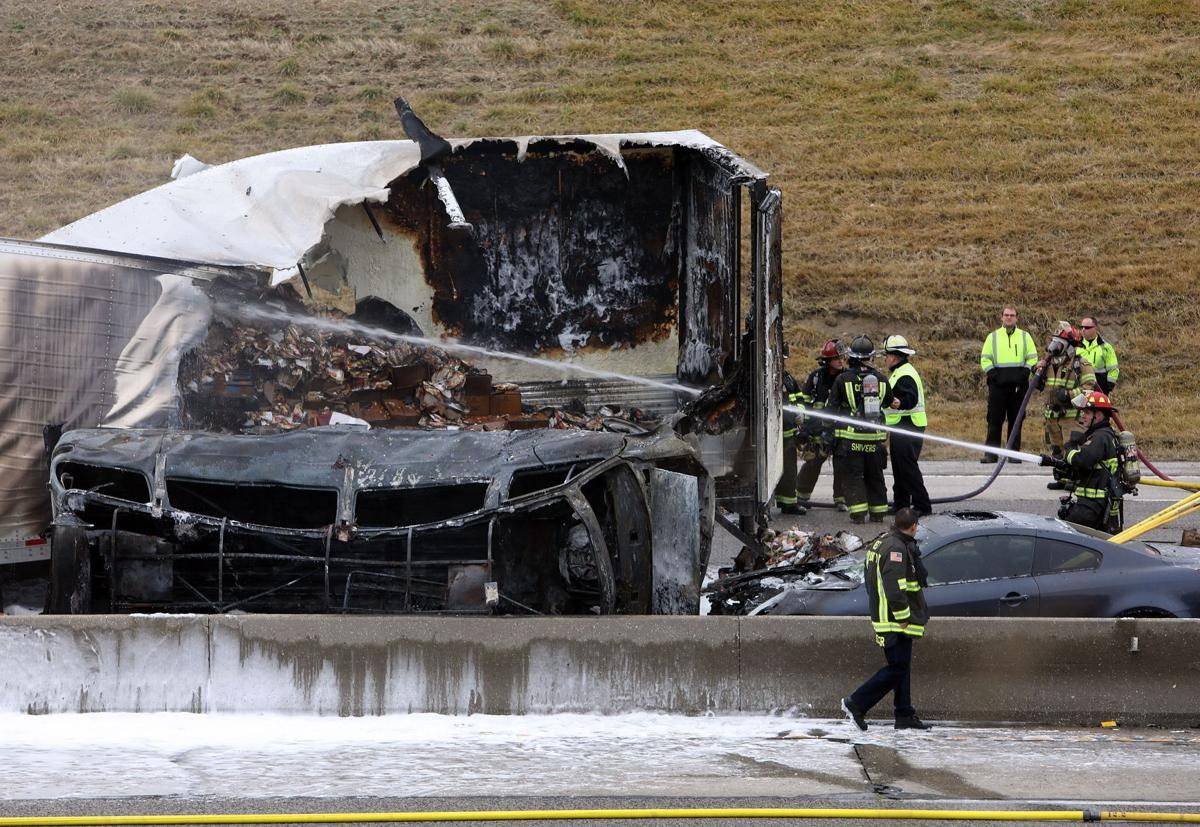 Fatal wreck, fire on I-270
