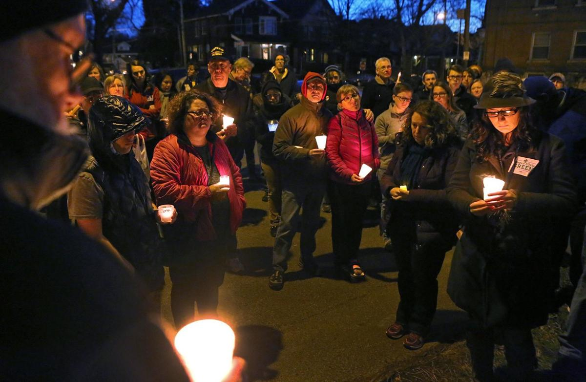 Vigil on Juniata for murder victim