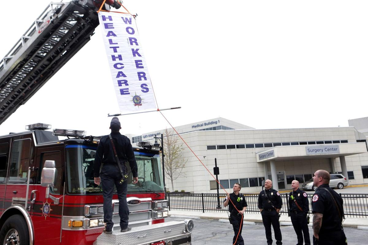 St. Charles FD and PD applaud SSM Hospital workers