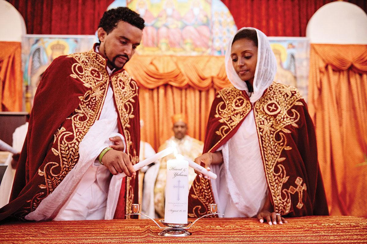 ae2da804d24 Ethiopian wedding projects  church white  party for 600