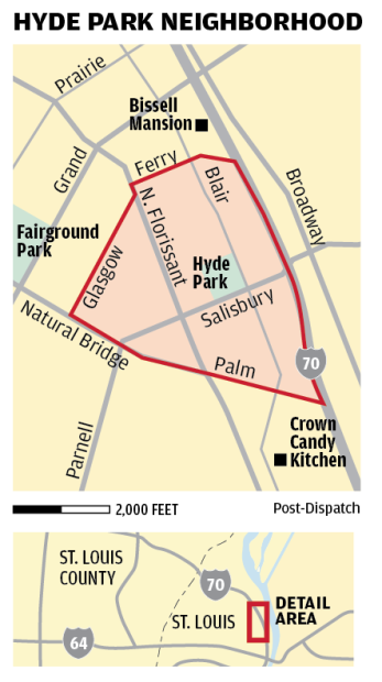 Hyde Park neighborhood map | | stltoday.com St Louis Neighborhood Map on