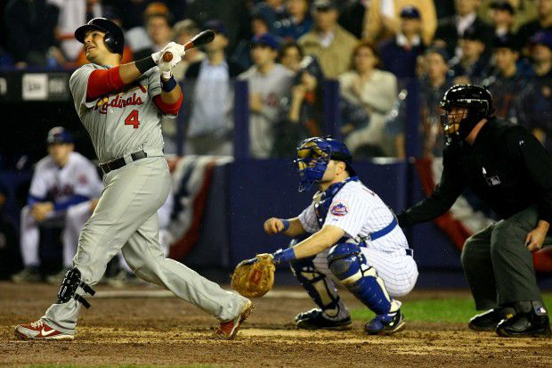 NLCS Game 7, 2006 Molina blasts a home run