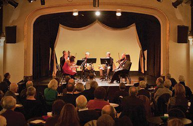 Taking bows after a Chamber Music Society of St. Louis performance