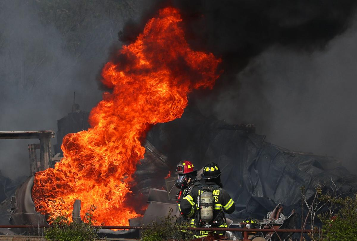 Large chemical fire in south St. Louis County