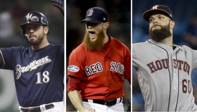 Mike Moustakas, Craig Kimbrel, Dallas Keuchel