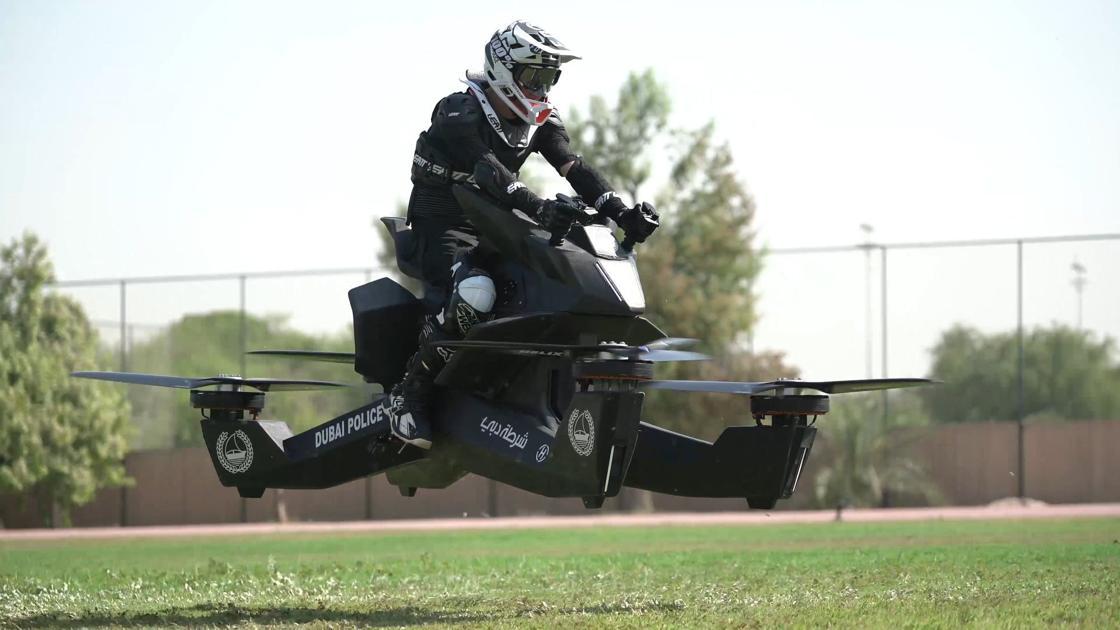 Dubai police take to skies on flying motorbikes thumbnail