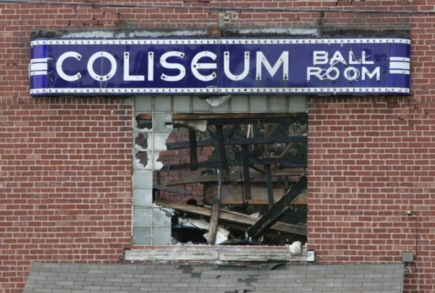 The Coliseum Ballroom after fire