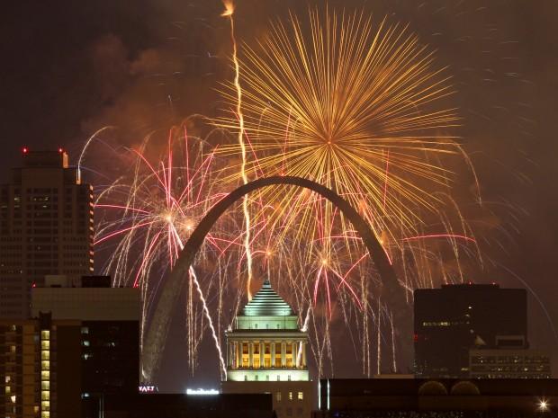 Fair St. Louis fireworks 2013