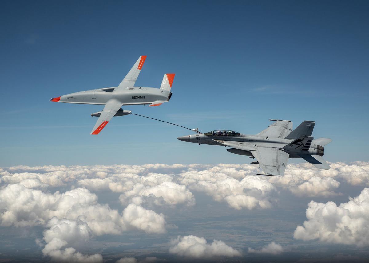 MQ-25 refueling photo