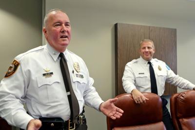 County Police Chief Jon Belmar and St. Louis Police Chief Sam Dotson