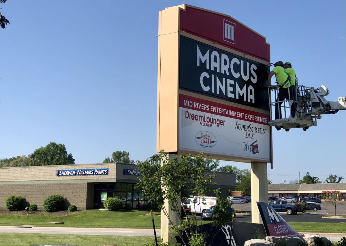 Marcus Mid Rivers Cinema new sign