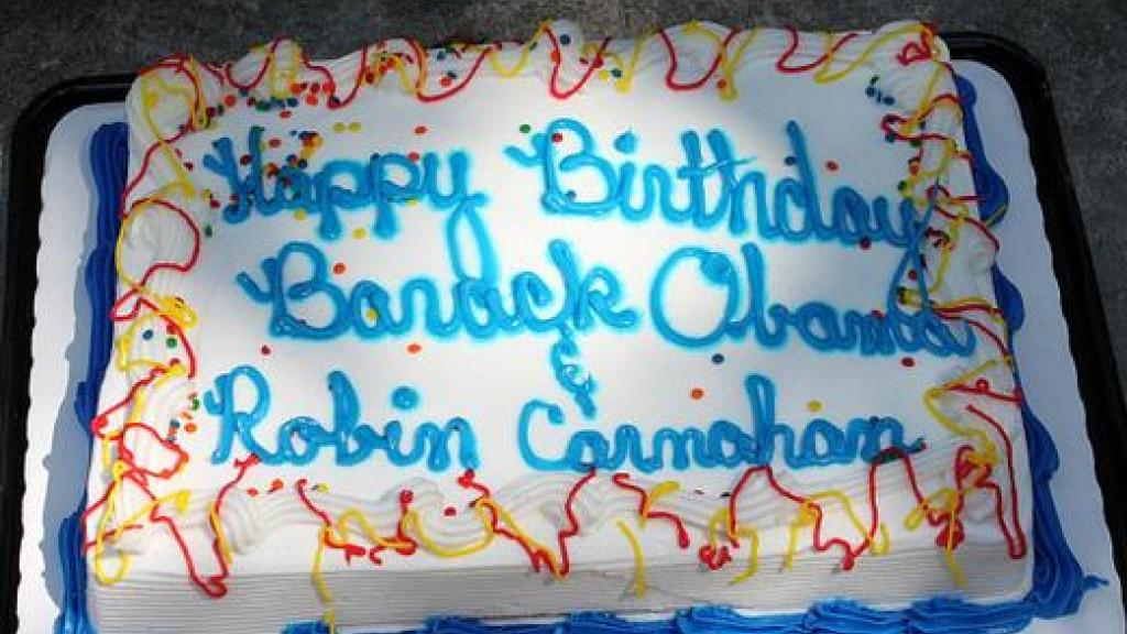 Gop Marks Shared Obama Carnahan Birthday With Special Cake Delivery