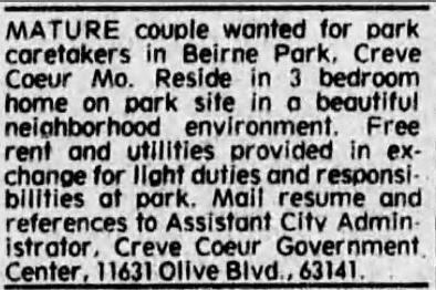 caretaker ad for beirne park