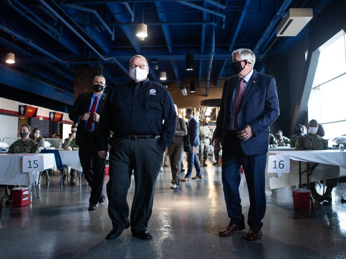 Officials speak at new FEMA vaccination site