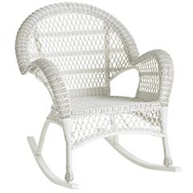 santa barbara white rattan wicker rocker chair at news. Black Bedroom Furniture Sets. Home Design Ideas