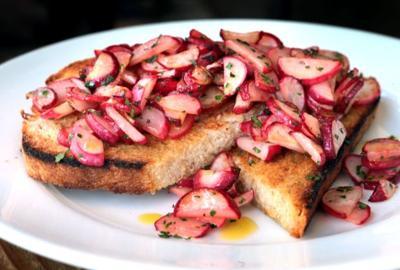 Pastaria- Roasted Radish Brushetta