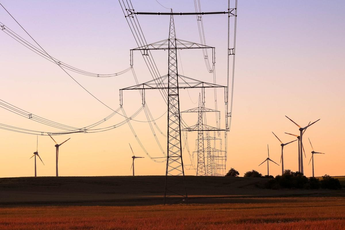 Transmission lines and wind turbines