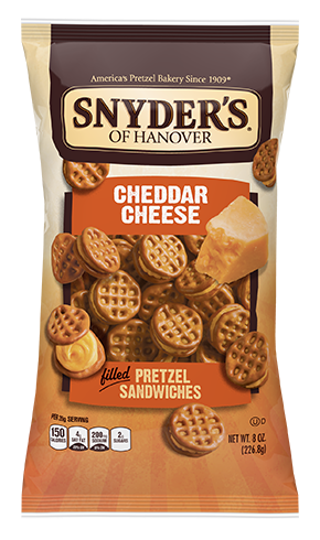 pretzels with cheddar cheese