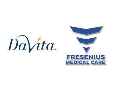 DaVita and Fresnius Medical logos