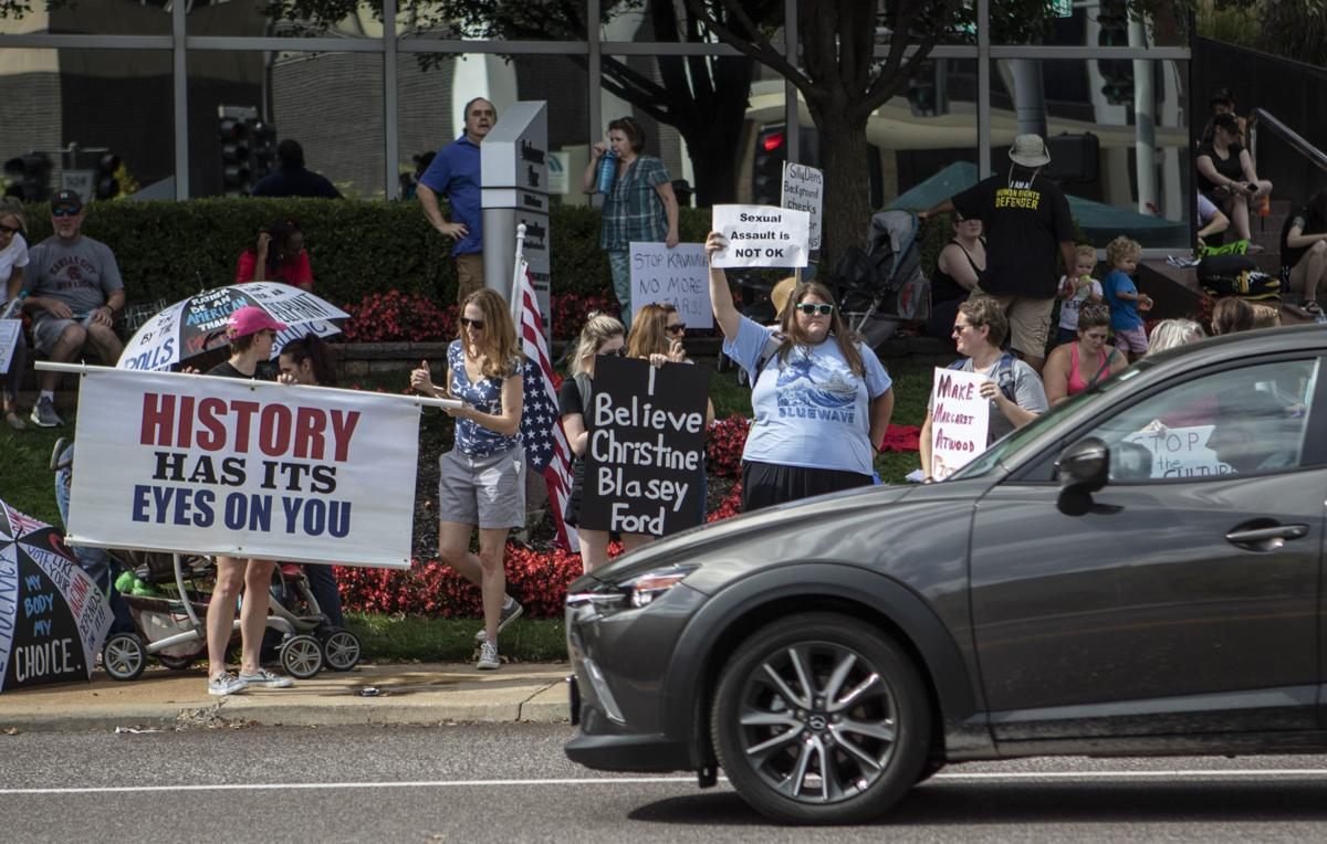 Protestors take to the streets after Judge Brett Kavanaugh's confirmation to the U.S. Supreme Court