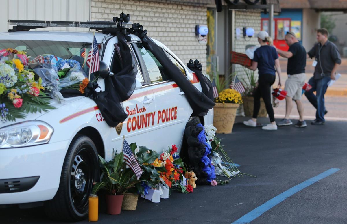 Memorial set up for slain county officer