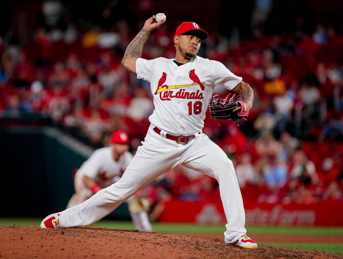 St. Louis Cardinals take on the Miami Marlins at Busch